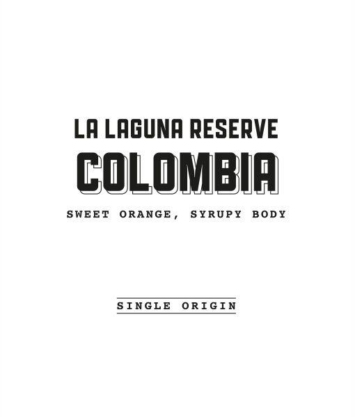 Colombia La Laguna label