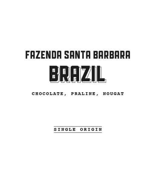 Brazil Santa Barbara Label