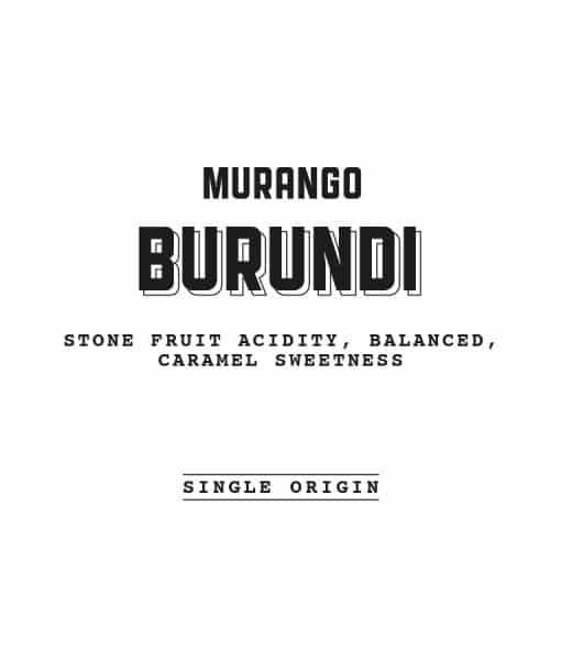 Burundi Murango Label
